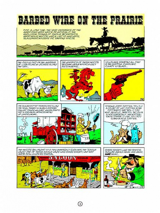 Lucky Luke 07 - Barbed Wire on the Prairie